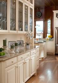 white kitchen hutch cabinet decor