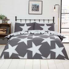 star grey cotton mix duvet set expand