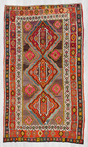 1447 handwoven large vintage colorful turkish kilim rug