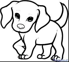 Puppy Coloring Pages For Kids Free Printable Dog Cute Little Puppies