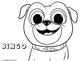 Bingo Coloring Pages Thewestudio
