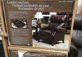 barcalounger leather swivel glider recliner chair costco view larger