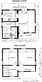 260 plan of ground floor land first floor of t3 type house
