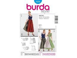 Dirndl Pattern Delectable Paper Pattern Dirndl Burda 48 Fabricshemmers