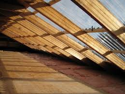 image of corrugated fiberglass roofing panels house