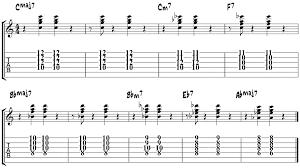 Guitar Chord Progression Chart Jazz Guitar Chord Progression 3a Jazz Chord Progressions