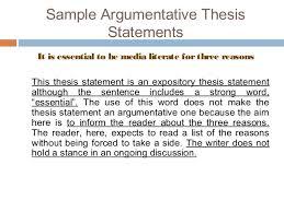argumentative essay 17 effective thesis statements