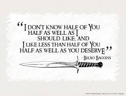 Bilbo Baggins Quotes Impressive Quotes About Bilbo Baggins 48 Quotes