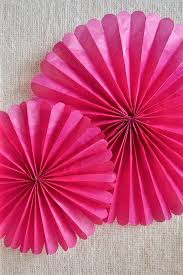 tissue paper rosettes free tutorial with pictures on how to make a paper model in