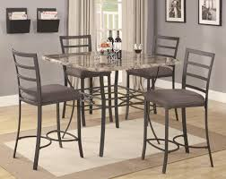 Kitchen: Comfortable Wood And Metal Kitchen Table Sets Ideas Design Metal Kitchen  Table
