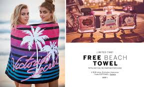 free beach towel with any eau de parfum purchase a 38 value excludes clearance code edptowel to limited time free beach towel with any eau
