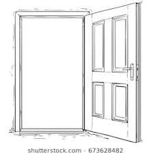open door drawing. Exellent Drawing Vector Cartoon Of Open Elegant Wooden Door Inside Open Door Drawing