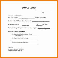 Sample Letter Confirming Employment 8 Example Of Letter Of Employment Verification This Is