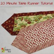 10 Minute Table Runner Pattern Awesome A Three Minute Tutorial To Sew A Ten Minute Table Runner Or Twelve