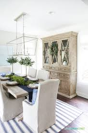 dining room hutch. Blue And White Dining Room With Reclaimed Wood Hutch. This Post Offers Several Hutch