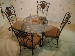 kitchen lovely round glass table and 4 chairs 47 950304 luxury round glass table and