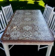 stenciling furniture ideas. full size of white stenciled old brown oak table rectangle dining set 4 wooden furniture stenciling ideas