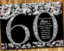 60 birthday invitations 60th invitation etsy
