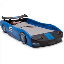 details about race car twin bed children turbo blue kids boys girls bedroom furniture toddler