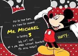 Mickey Mouse 1st Birthday Invitations Birthday Invitation