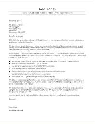 Cover Letter Sample Accounting Cover Letter For Accounting Job