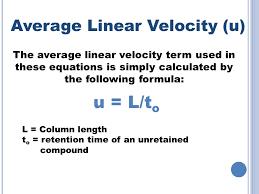 u l to average linear velocity u