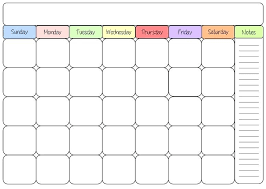 Printable Blank Monthly Calendar Excel Monthly Calendar Template 2016 Free Printable Blank Calendars