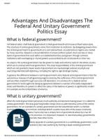 ukessays com advantages and disadvantages the federal and unitary  advantages and disadvantages the federal and unitary government politics essay pdf