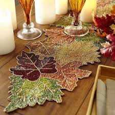 Beaded Leaves Table Runner | Pier 1 Imports