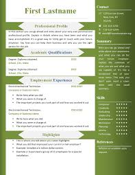 Resume Format Free Download In Ms Word Resume And Cover Letter
