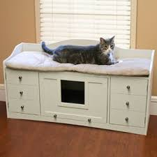 cat bench bed litter cabinet hide your litterbox from cat litter box covers furniture