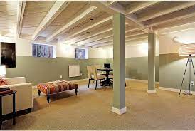 remodel a basement with a low ceiling