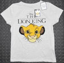 Primark T Shirt Size Chart Primark Lion King T Shirt Disney Simba Official New Sizes 6