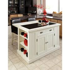White Kitchen Cart With Granite Top Carts Islands Utility Tables Kitchen The Home Depot