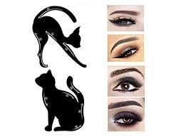 ama tm 2pcs women cat line pro eye makeup tool eyeliner stencils template shaper model black