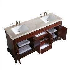 Eviva Elite Princeton 72 Teak Solid Wood Bathroom Vanity Set With Double Og Crema Marfil Marble Top Bathroom Vanities Modern Vanities Wholesale Vanities