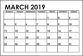 Full Page March 2019 Calendar 2019 Calendar Calendar