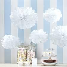 Pom Pom Decorations White Tissue Paper Pom Poms White Party Decorations Party Ark