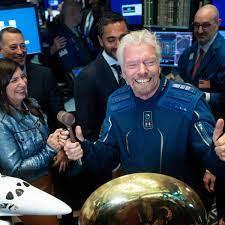 beat Jeff Bezos into space by nine days ...