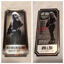 Your tickets will be posted as soon as possible, at the latest 2 weeks before the event. Enigma 3d Collector Ticket Live In Las Vegas Gaga Daily