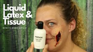 how to work with liquid latex and tussue special effects makeup liquid latex
