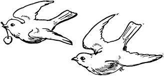 flying bird clipart black and white. Delighful Clipart Two Birds  ClipArt ETC In Flying Bird Clipart Black And White L