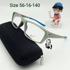 kacamata nike 7398 grey blue frame