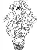 Small Picture Monster High Lagoona coloring page Free Printable Coloring Pages