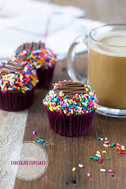 chocolate cupcakes with sprinkles. Brilliant Sprinkles And Chocolate Cupcakes With Sprinkles BrightEyed Baker