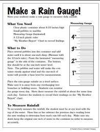 Make A Rain Gauge Worksheets Printables Scholastic