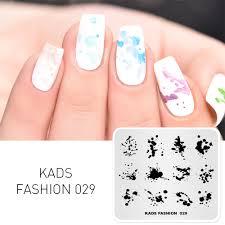 Diy Manicure Designs Missguoguo Nail Stamping Template Fashion Ink Patterns Diy