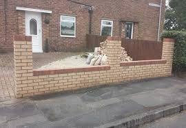 garden wall building repair