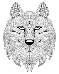 Wolf Head With Complex Patterns From The Gallery Wolves Animal