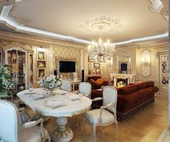 Luxury Living Room Designs Combine Dining And Living Room Design With Luxury Beside